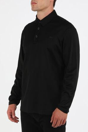 Knit Long Polo Shirt in Black PAUL & SHARK