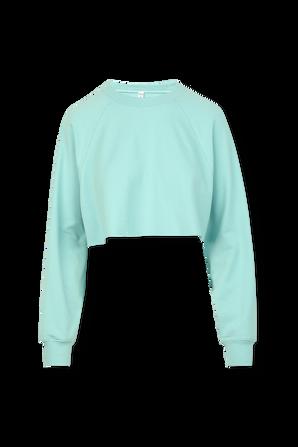 Double Take Crop Sweatshirt in Blue ALO YOGA