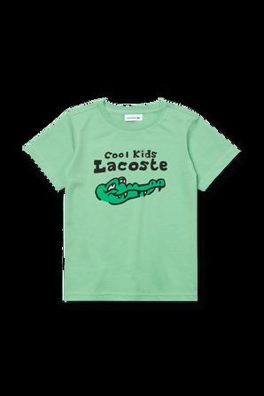 גילאי 2-12 חולצת טי ירוקה עם לוגו LACOSTE KIDS