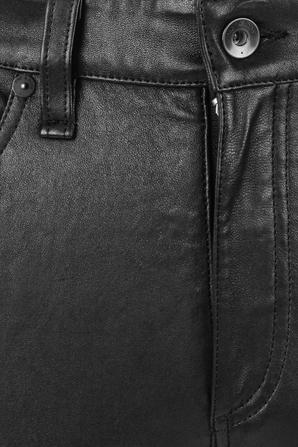 Nina High Rise Ankle Skinny Black Leather Pant RAG & BONE