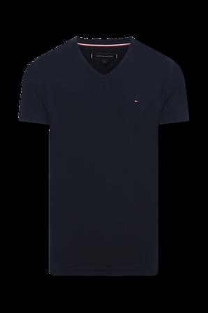 Slim Fit Cotton T-Shirt in Blue TOMMY HILFIGER
