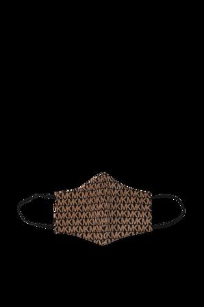 MK Logo Print Unisex Face Mask in Brown MICHAEL KORS
