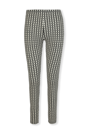 Jersey Leggings in Black and White VALENTINO