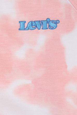 גילאי 4-6 חולצה ארוכה טאי דאי בגווני לבן וורוד LEVI`S KIDS