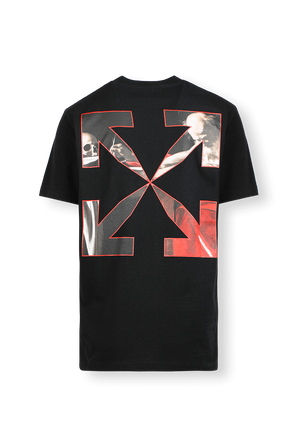 Caravaggio Print T-Shirt in Black OFF WHITE
