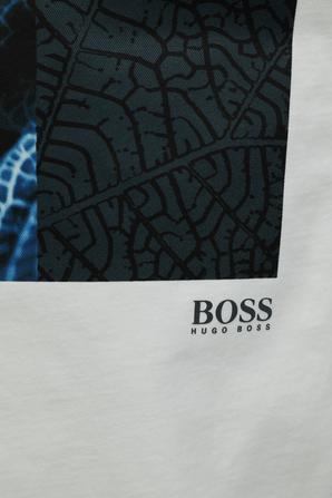 Blue Print Tshirt in White HUGO BOSS INTERNATIONAL