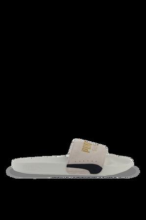 Leadcat Sude Classic Sandals in White PUMA
