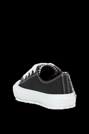 מידות 27-35 נעלי סניקרס שחורות עם כיתוב ממותג משובץ BURBERRY