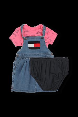 גילאי NB-24 חודשים מארז שמלה וחולצה TOMMY HILFIGER KIDS