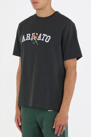 חולצת טי עם רקמה של ציפור בצבע שחור AXEL ARIGATO