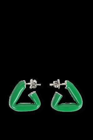 Triangle Earrings in Green BOTTEGA VENETA