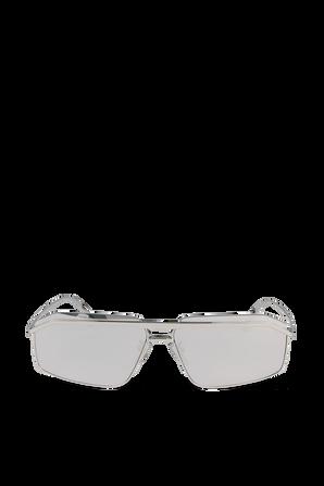 Bridge Rectangle Sunglasses in Silver BALENCIAGA