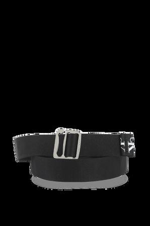 Logo Belt in Black CALVIN KLEIN