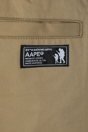 Lanyard Detail Twill Shorts in Brown AAPE
