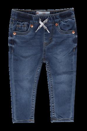 גילאי 1-2 מכנסי ג'ינס עם שרוכי קשירה בצבע כחול LEVI`S KIDS