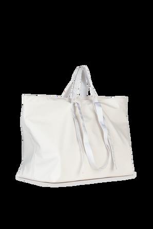 Nylon Tote Bag in White OFF WHITE