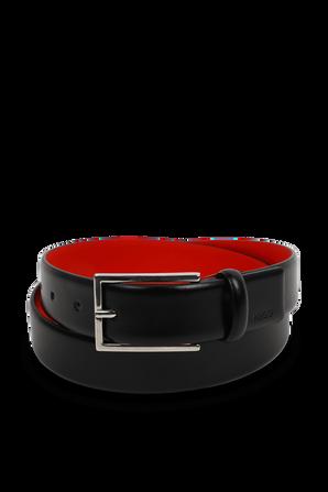 Black Belt with Red Stitches HUGO