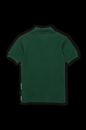 גילאי 2-12 חולצת פולו בגוון ירוק בקבוק עם פאץ' לוגו LACOSTE KIDS