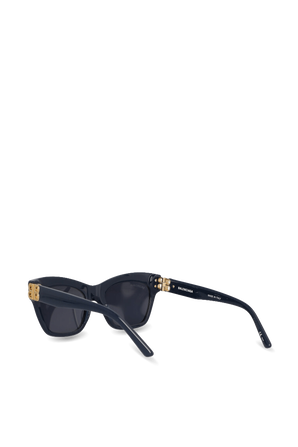 Dynasty Monogram Logo Sunglasses in Blue BALENCIAGA