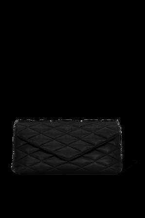 Sade Puffer Envelope Clutch in Black SAINT LAURENT