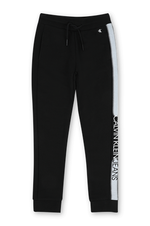 גילאי 4-16 מכנסי טרנינג שחורים עם לוגו CALVIN KLEIN