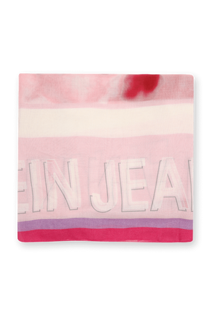 Square Logo Scarf in Pink Marble CALVIN KLEIN