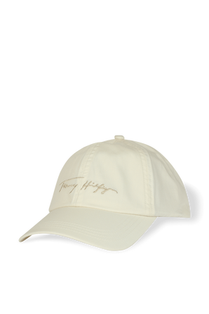 Signature Embroidered Baseball Cap In White TOMMY HILFIGER