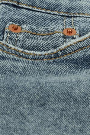 גילאי 2-4 מכנסי ג'ינס קצרים בכחול וינטג' עם שפשופים וקרעים LEVI`S KIDS