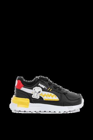 מידות 21-27 נעלי סניקרס סנופי בצבע שחור PUMA KIDS