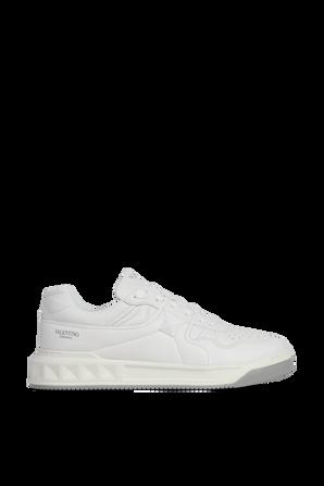 נעלי סניקרס עם לוגו בצבע לבן VALENTINO