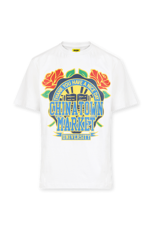Smiley Glass Tee in White CHINATOWN MARKET