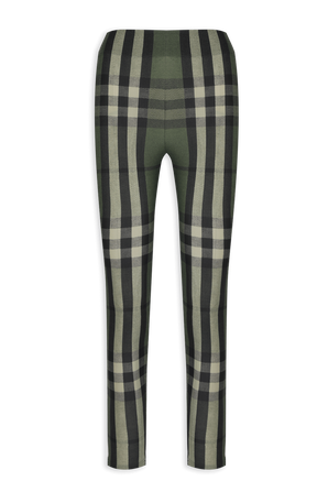 Checked Leggings in Green BURBERRY