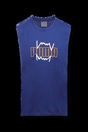 Triple Double Basketball Tank Top in Blue PUMA
