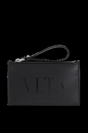 VLTN Leather Wallet in Black VALENTINO