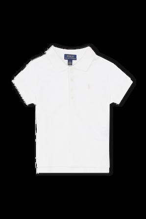 גילאי 2-4 חולצת פולו קלאסית בלבן POLO RALPH LAUREN KIDS