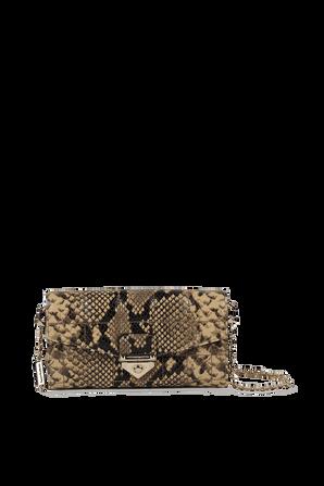 Quilted Snake Embossed Leather Shoulder Bag MICHAEL KORS