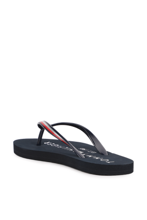 Glossy Beach Sandals in Navy TOMMY HILFIGER