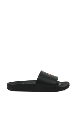 Pool Sliders in Black OFF WHITE
