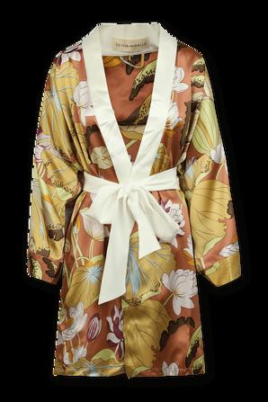 Mimi Habibah Silk Kimono Style Robe OLIVIA VON HALLE