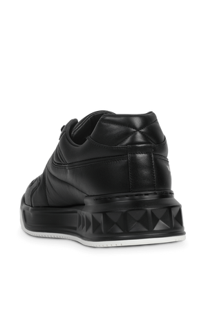 Side Logo Low Top Sneakers in Black VALENTINO