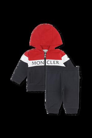 גילאי 6-36 חודשים חליפה עם לוגו בחזית MONCLER KIDS
