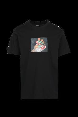Graphic Print T-Shirt in Black DIESEL