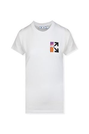 Gradient Style Logo T-Shirt in White OFF WHITE