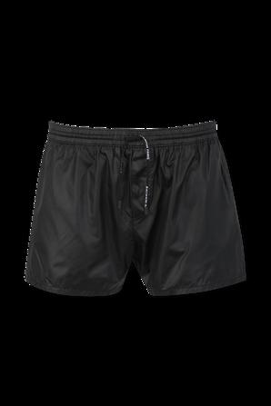 Balmain Logo Pocket Swim Shorts in Black BALMAIN