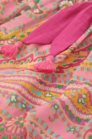 גילאי 1-10 חצאית פופי בהדפס פייזלי ורוד ZIMMERMANN KIDS