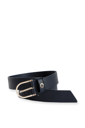 Classic Leather Belt in Blue TOMMY HILFIGER