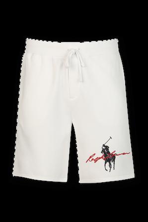 Graphic Horseman Logo Shorts in White POLO RALPH LAUREN
