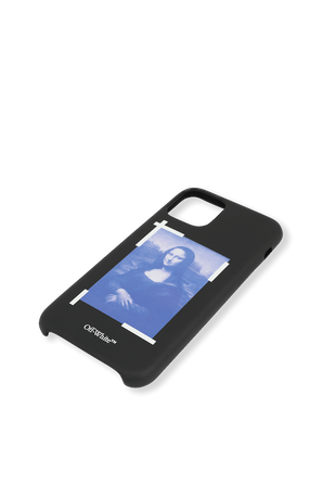 Blue Mona Lisa iPhone 11 Pro Cover in Black OFF WHITE