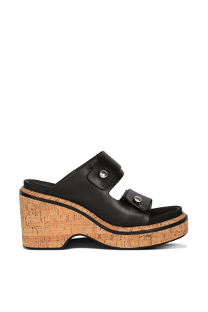Sommer Wedge- High Heeled Sandal in Black RAG & BONE