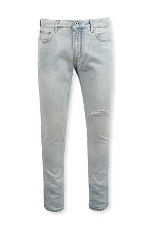 Skinny Jeans in Light Wash OFF WHITE